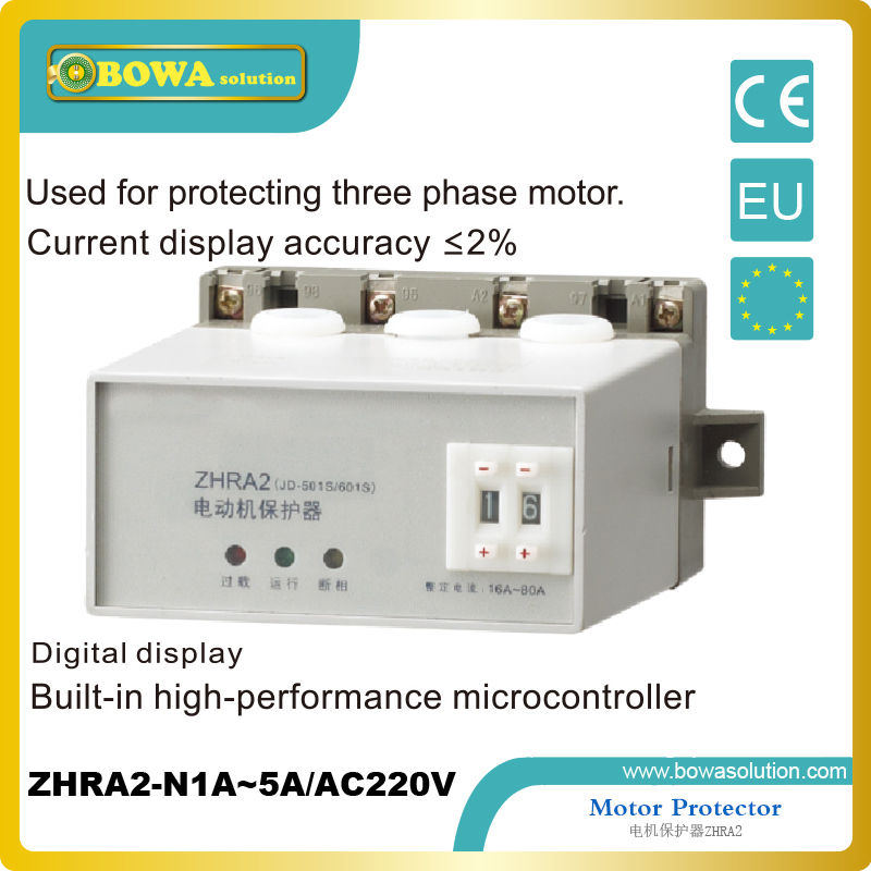 Motor Protector for protecting three phase motor applied in refrigeration compressor ZHRA2-N1A~5A/AC220V<br>