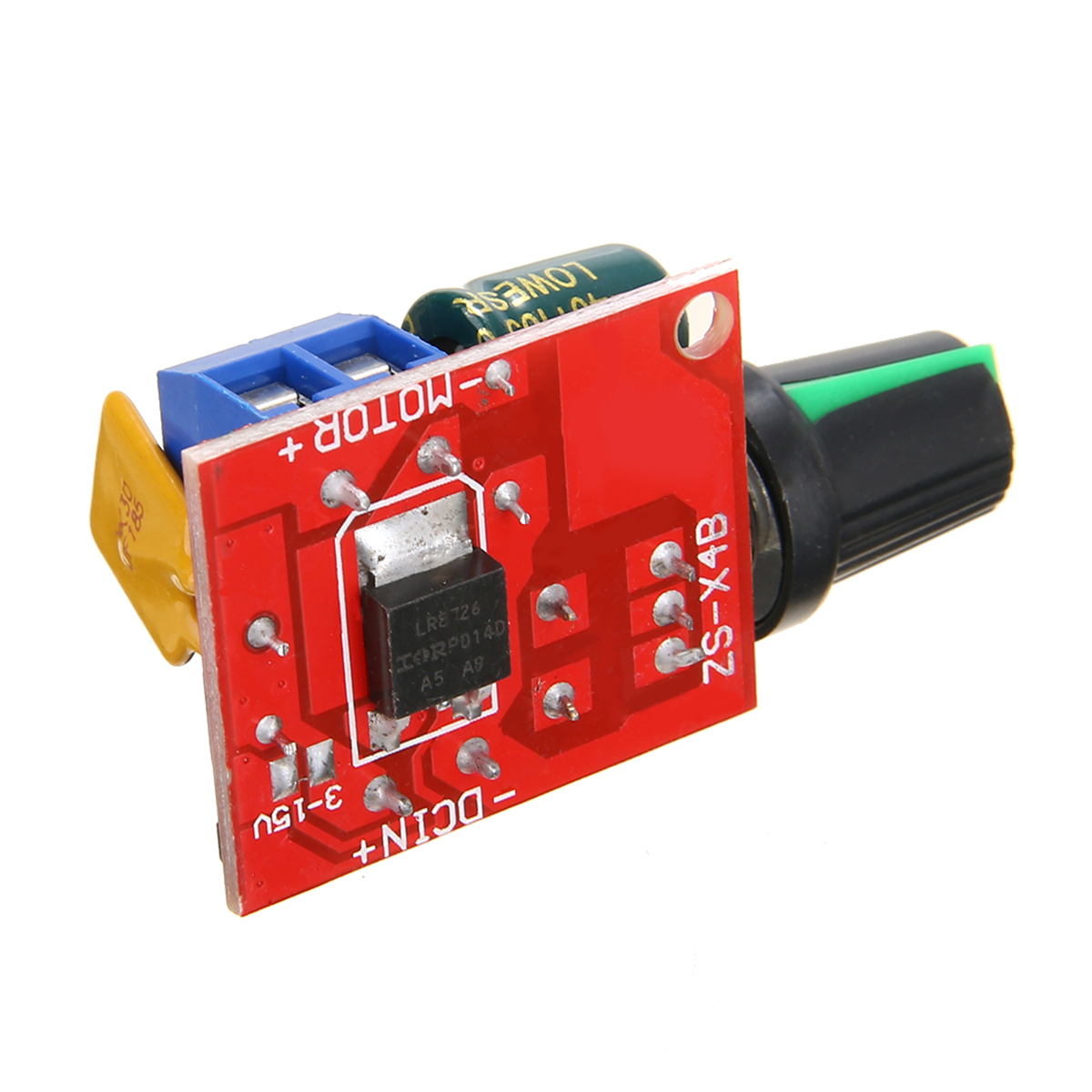 Electrical Motor Speed Controller Module 3-35V 12V 24V PWM DC Motor Speed Control Regulator Adjustable Switch LED Fan Dimmer