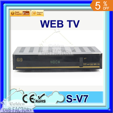 20PCS S V7 Digital Satellite Receiver S V7 S-V7 AV output VFD Support WEB TV USB Wifi 3G Biss Key Youporn CCCAMD DVB-S2 DVB S2
