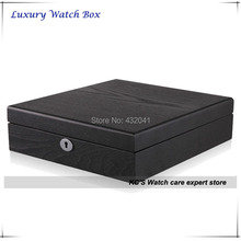 Lockable 12 Wooden Watch Display Case Luxury Watch Box Anniversary Gift - 12 Slots/ Treelike finish/ Square GC02-SP-12S