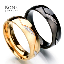 Top Quality Wholesale Elegant Women Midi Hobbit Ring Stainless Steel Crystal Ring For Men Gift Jewelry