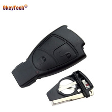 OkeyTech 3 Buttons new Remote Car Key Shell Fob Cover Case Mercedes Benz B C E ML CLK CL Replacement Shell Blade