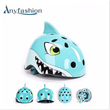 Anyfashion Kids Cartoon Cycling Helmet Ultralight EPS Material Bicycle Safety Helmet Children Cycling Equipment 3-10years