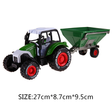 1:32 Mobile Machinery Shop Car Toy Green Plastic ABS Farmer Car Model Toy Grain Harvesters Farm Tractor Grain Loader Model Car