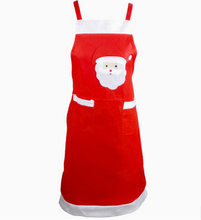 100pcs New Arrival Christmas Santa Claus Apron Christmas Decorations for Home Red Cloth Adult Pinafore Noel Decoration