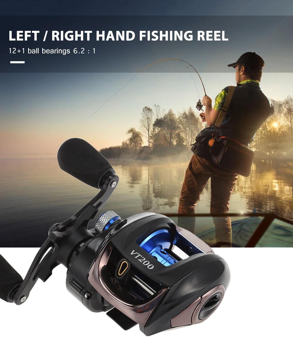 Left / Right Hand 6.2 : 1 High Speed Bait Casting Fishing Reel