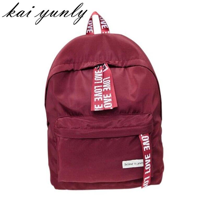 kai yunly 1PC Hight Quality Hot Fashion Girls Boys Letter School Bag Travel Backpack Satchel Women Shoulder Rucksack Oct 31<br><br>Aliexpress