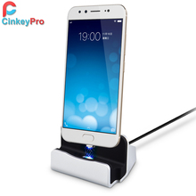 CinkeyPro Magnetic Micro USB Charger Dock For Samsung Xiaomi Universal Mobile Phone Wireless Design 1M Cable Charging Station