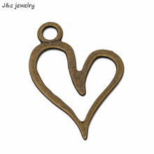 Buy Wholesale 3pcs antique bronze Zinc Alloy Hearts Charm Pendant Jewelry Charms Diy Necklace Bracelets 65*46mm 2978B for $1.35 in AliExpress store