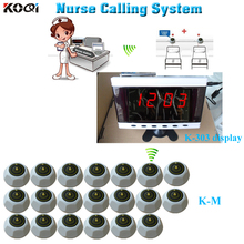Electronic nurse calling system of display K-303 and bell buzzer K-M 20 units for quick service(China)