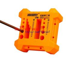 by dhl 100pcs high quality JAKEMY Brand Magnetizer Demagnetizer Screwdriver Magnetic Pick Up Tools Keep Every Screw Safe