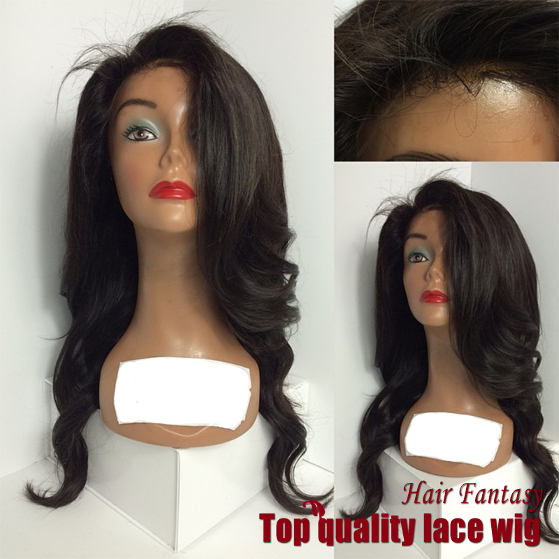 2017 New Natural Wave Wigs Synthetic Lace Front Wigs Side Bangs With Baby Hair Heat Resistant Hair Wigs African American Wig<br><br>Aliexpress