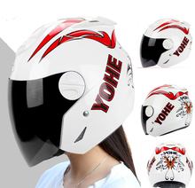 2016 women YOHE Summer half face mororcycle helmet ABS motorbike helmets YH-601 red white black 9 kinds colors size M L XL XXL