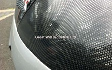 Headlights Tinting Perforated Mesh Film Like Fly Eye Self Adhesive Vinyl Windows Film Tint 1.07x50m Free Shipping