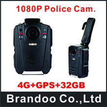4G+GPS+32GB Full HD night vision body worn cameras on police site enforcement