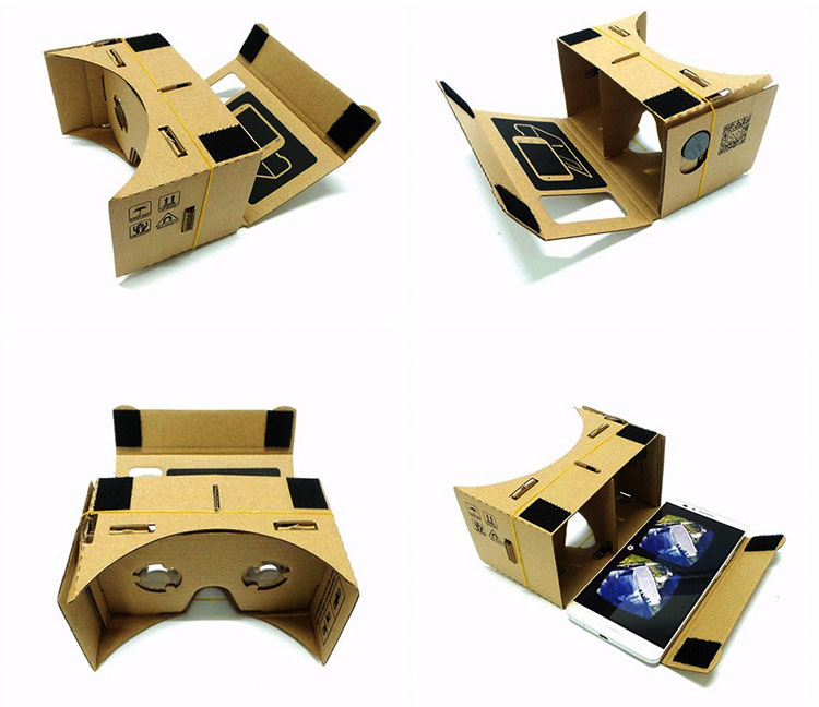Hot Sale Virtual Reality Glasses Google Cardboard Glasses 3D Glasses DIY VR Box Movies for iPhone 5 6 7 SmartPhones VR Headset_02