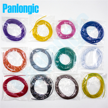 Panlongic 60 Meters UL1007 Electronic Wire of 12 Colors 22awg OD1.6mm PVC Electronic Wire Electronic Cable UL Certification #22