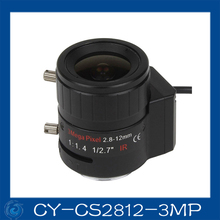 "Free shipping 3MP cctv camera lens2.8-12mm DC Iris lens, 1/2.7"" CS mount F1.4 for Security Camera,CY-CS2812-3MP(China)"