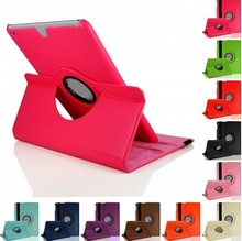 "Cases For apple Pad 1 2 3 4 5 Air 1 6 Air 2 mini 1 2 3 4 Pro 9.7"" PU Leather Case Luxury 360 Rotation Stander Flip Tablet Cover"