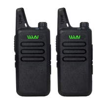 2Pcs/lot WLN KD-C1 UHF 400-470 MHz Black handheld transceiver cb radio mini radio walkie talkie(China)