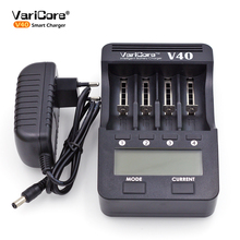 VariCore V40 LCD Charger For 3.7V 18650 26650 18500 Cylindrical Lithium Batteries,1.2V AA AAA NiMH Battery Charger(China)