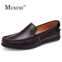 Buy New arrival high genuine leather comfortable casual shoes men loafers shoes soft breathable flats driving shoes for $29.68 in AliExpress store