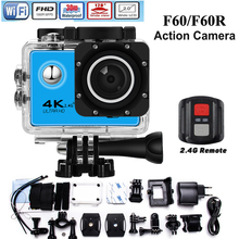 Mllse 4K Sport Camera F60/F60R Wifi Full HD 1080P 30m Waterproof Diving Action Camera with Cam accessories for go pro/sj4000
