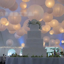 2015 Happy Colorful Chinese Paper Lantern Wedding Festival Party Celebrate Decoration 30CM
