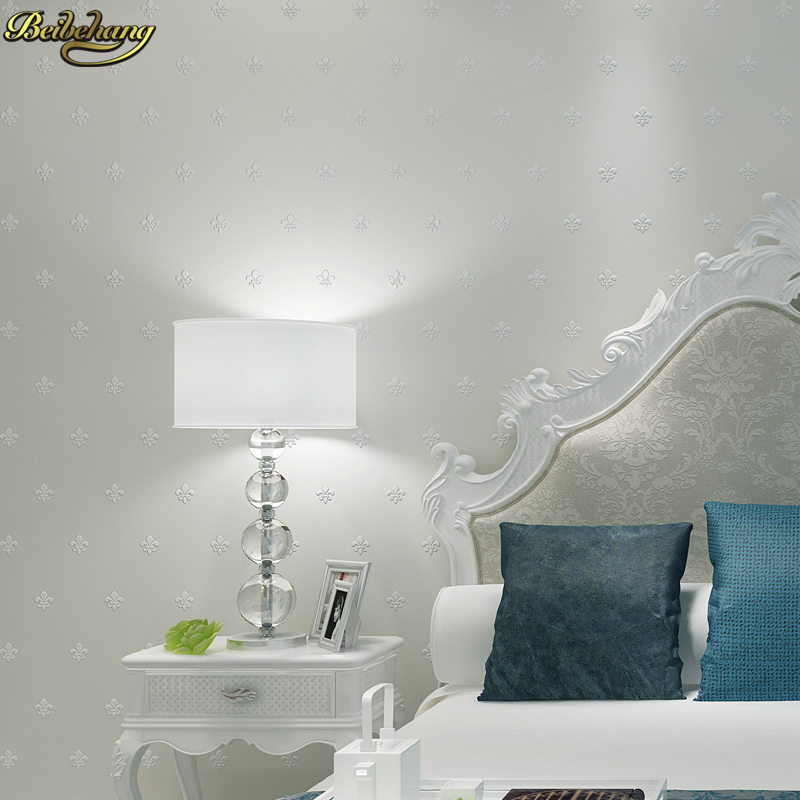 beibehang European Stereo Flocking Pearlescent Non wovens Wallpapers Living Room Bedroom Pony Stone Wall paper papel de parede<br>