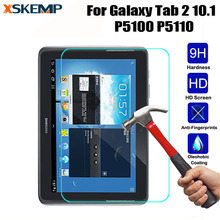 Premium 9H Tempered Glass For Samsung Galaxy Tab 2 10.1 P5100 P5110 Tablet No Fingerprint Ultra Clear Screen Protector Film