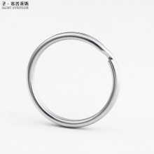2017 Promotional Limited Free Shipping Direct Selling 10pcs 30mm Round Stainless Steel Split Key Rings keyring
