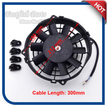 12V 80W Radiator Cooling Fan Performance Cable Length 300mm For Chinese UTV Go Kart Buggy Quad ATV