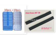 20 * Mop(10 * wet + 10 * dry )+2* wheel tire Leather Fetal skin for iRobot braava 320 380 375T 380T Mint 4200 4205 5200 5200C