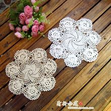 free shipping 6 pic/lot 3D flowers cotton crochet lace doilies for home decor cup pad powl coaster as innovative item placemat