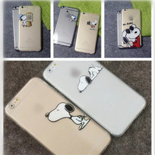 UVR Cute cartoon relief puppy dog pattern Air cushion soft TPU back cover cases For Iphone 6 6s plus 5 5s Mobile phone cases