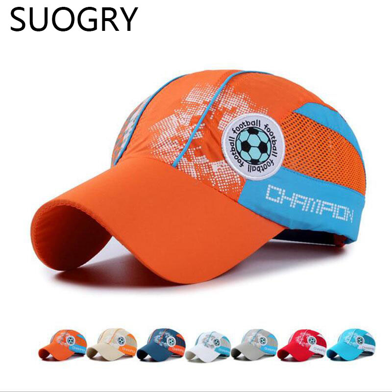 2016 Summer Quick Dry Sun Cap 7-15 Years Old Kids Girls Boys Caps Hats Outdoor Snapback Baseball Cap<br><br>Aliexpress