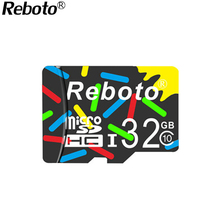 Reboto colours MicroSD 32GB 64GB Class10 UHS1 Flash Memory Card 16GB 8GB 4GB class6 Micro sd card TF Card for Smartphone Camera(China)