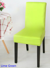 Lime Green Colour Spandex lycra chair cover fit for square back home chairs wedding party home dinner decoration Half cover