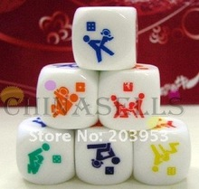 hot in stock KTV bar game fun sexy couple dice toys adult sexy erotic lovers creative gift party dice free ship