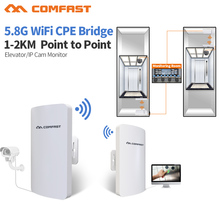 2pc 1-2KM 2017 Comfast 300Mbps 5.8Ghz outdoor Access Point 11dBi WI-FI Antenna wireless bridge CF-E120 WIFI CPE Nanostation wifI(China)