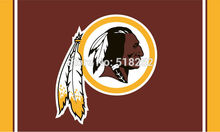 Washington Redskins Logo Flag 3x5 FT 150X90CM Banner 100D Polyester flag brass grommets 023, free shipping