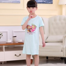 Buy Girls Nightdress New WAVMIT 2018 Summer Princess Cartoon Dresses Kids Sleep Dress Cotton Children Nightgowns Lovely Girl Wear for $5.24 in AliExpress store