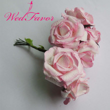 WedFavor 144pcs 3cm Pink Mini Mulberry Paper Rose Flowers For Scrapbooking Wedding Favor Box Hair Garland Decoration