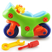 1 Set Boy Like Removable DIY Plastic Motorcycle Puzzle Screw Nut Assembling Model Building Toy Kid Educational Game Gift Toy