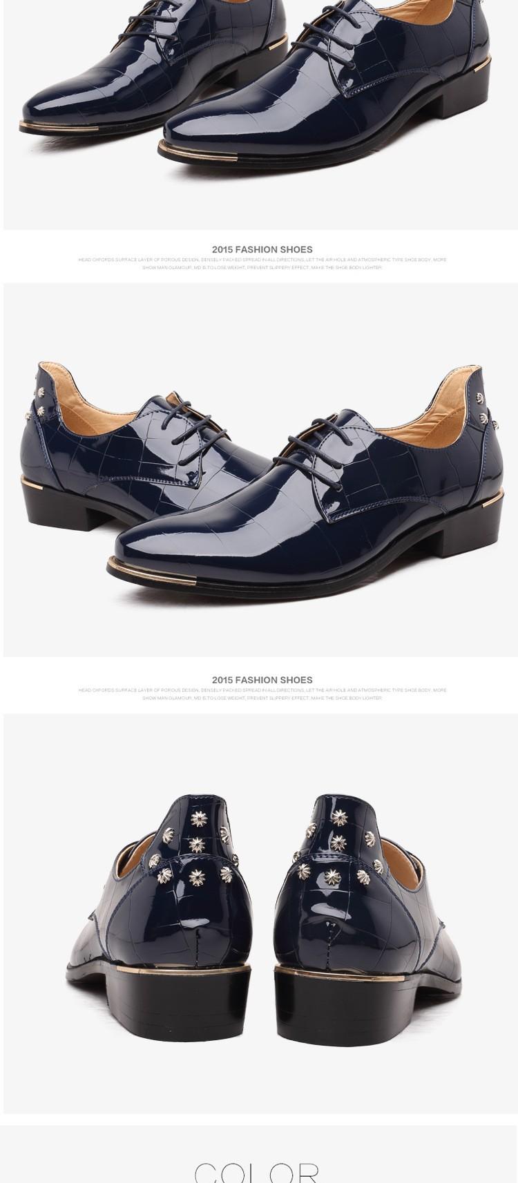 Men shoes 16 new fashion PU leather casual men shoes 9