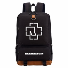 Rammstein rock casual backpack teenagers Men women's Student School Bags travel Shoulder Bag Laptop Bags bookbag