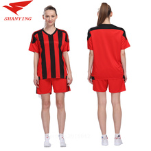 2017 women blank soccer sets lady football jersys girls sportswear women sports suits running kits diy name and number and logo(China)