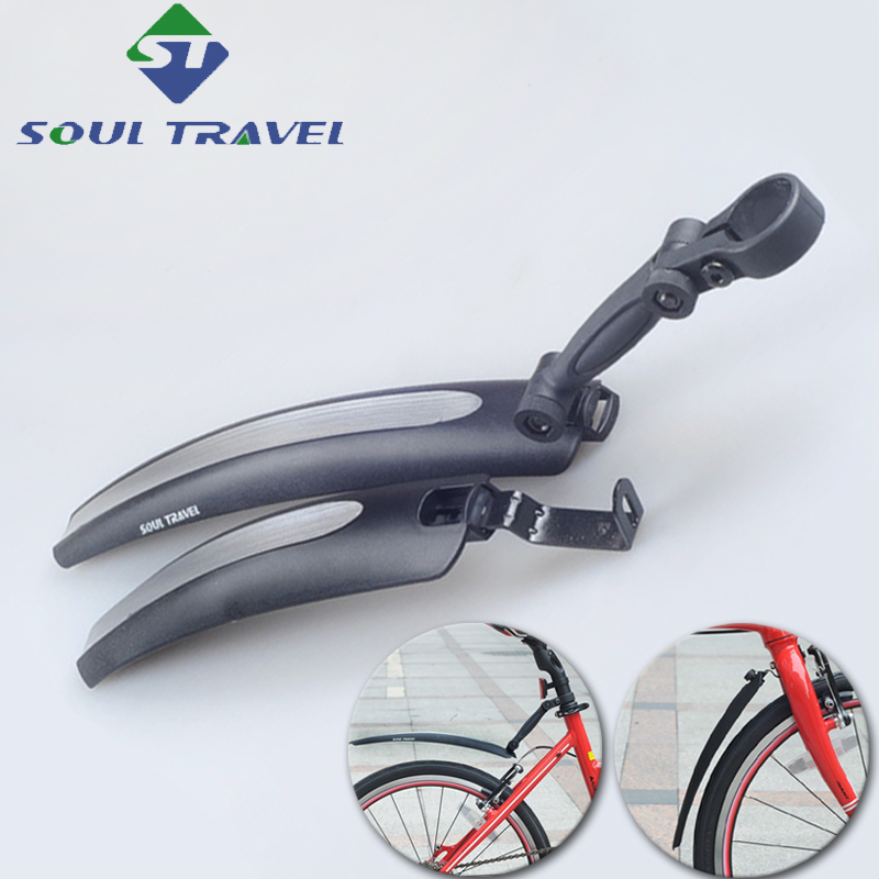 Soul Travel 16 20 Inch Cycling Plastic Folding Bike Fender Dirt Mud Bridge Front Rear Fenders Set Quick Release Bicycle Mudguard