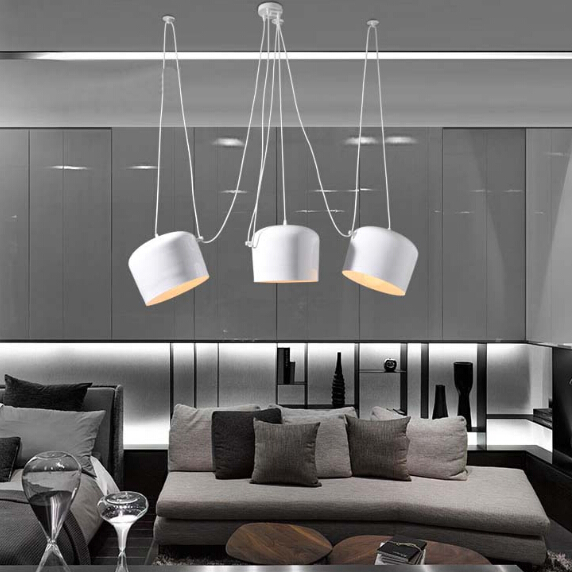 Simple Modern Restaurant Small Drum Chandelier Creative Cafe Personalized Living Room Clothing Store alf Circle Chandelier Light<br><br>Aliexpress