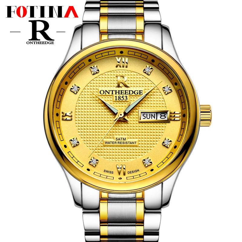 Fotina Top Brand R Watch Men Business Full Stainless Steel Clock Casual Gold Blue Watch Men Sport Wristwatches Relogio Masculino<br><br>Aliexpress